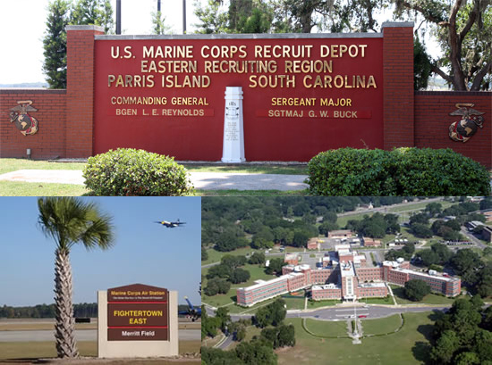 Parris Island South Carolina Military Base